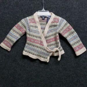 Ralph lauren  24M wool blend stripe sweater